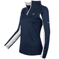 Kathryn Lily ProAir2 Sunshirt, Navy with White, Childs XS - L