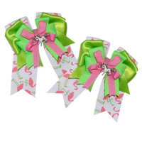 Belle & Bow SHORT-TAIL Show Bows, Flamingos
