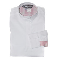 RJ Classics Lauren Jr Shirt - White with Pink Gingham, XS - XL