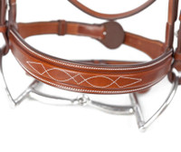 Huntley Equestrian Fancy Stitched Square Raised Noseband