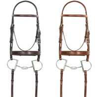 Pessoa PRO Fancy Stitched Wide Noseband Bridle, Small Pony, Pony &  Cob