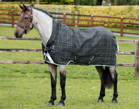 Rhino Pony Wug Turnout Sheet 45'' - 69'', Black/Grey/White Check