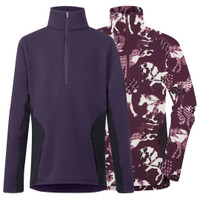 Kerrits Kids Protek Fleece Zip Neck, Eggplant & Berry Horse