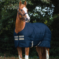 "Horseware Mio Pony Heavy 300g Stable Blanket , Navy/Tan, 54"" & 57"" Only"