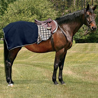 Rambo Pony Quarter Sheet, Black & Navy