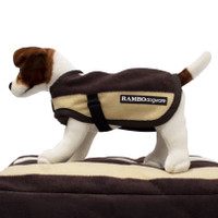 Horseware Rambo Deluxe Dog Blanket, Brown Witney Stripe
