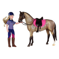 Breyer Classics English Horse and Rider With Tack