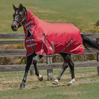 "Weatherbeeta Comfitec Classic Combo Turnout Sheet, Red/Silver/Navy, 48"" - 69"""