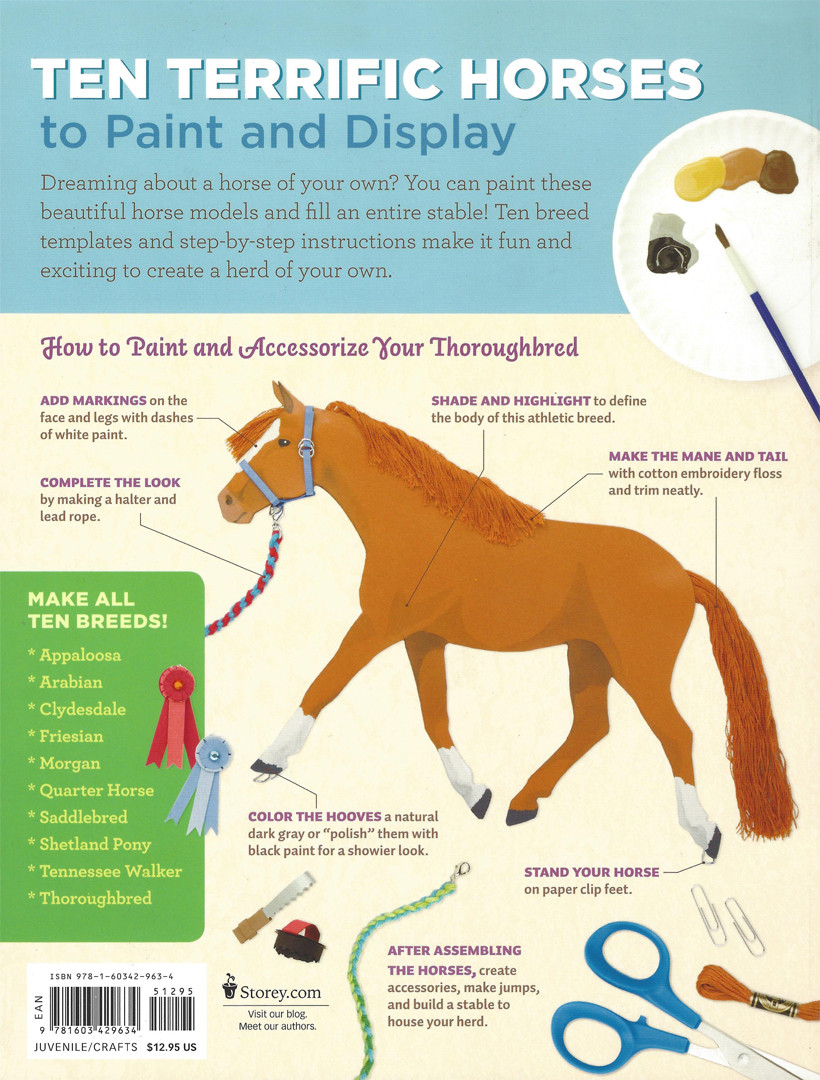 Pop Out Paint Horse Breeds Create Paper Models Of 10 Different Breeds