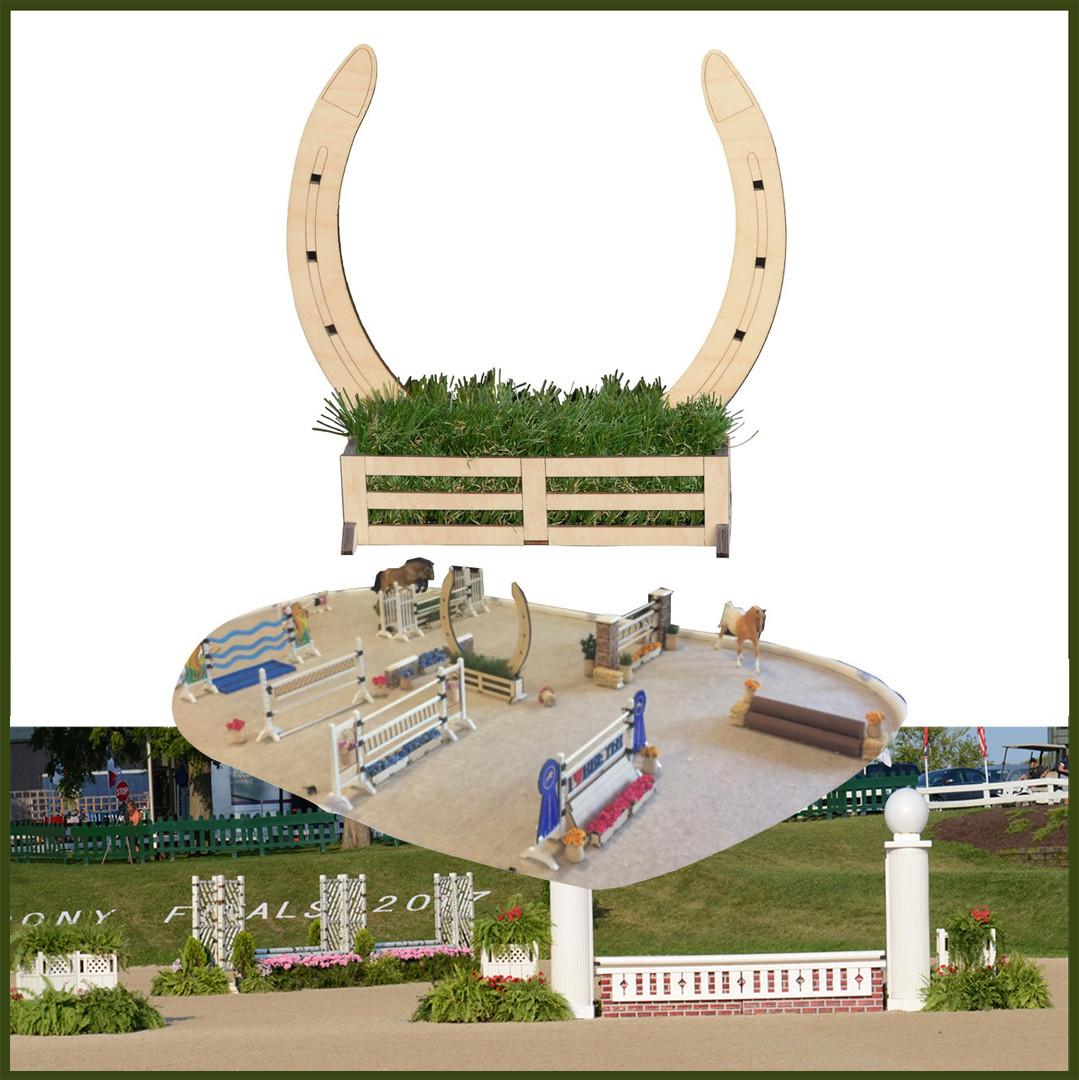Horseshoe Jump From Model Horse Jumps