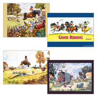 Thelwell Placemats, Set of 4 Assorted Including 'Up for the Cup'