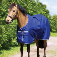 "Amigo Pony Hero ACY Medium Turnout, Atlantic Blue, 45"" - 69"""
