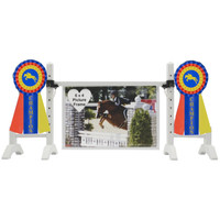 Blue/Red/Yellow Champion Ribbon Frame from Model Horse Jumps