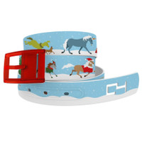 C4 Holiday Horses Classic Belt and Red Buckle