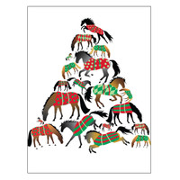 'Tree of Blanketed Horses' Horse Holiday Cards - Box of 8