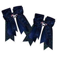 Belle & Bow Show Bows, Ribbons, Navy