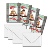 Mini Gift Enclosure Cards, Holiday Tree of Treats, Set of 4 with Envelopes