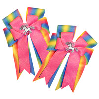 Belle & Bow Show Bows, Pink Dash
