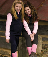 TuffRider Children's Unifleece Pull On Breech, Black, Navy & Sand