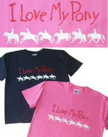 I Love My Pony Adult Tee, Sizes L & XL Only