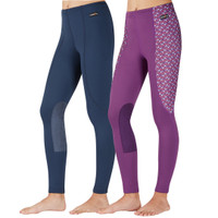 Kerrits Kids Performance Tight, Navy & Amethyst Geo Bits