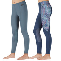 Kerrits Kids Performance Tight, Jade & Navy Geo Bits