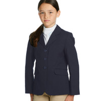 Ovation Girl's Destiny Stretch Show Coat, Navy, Sizes 4 - 16