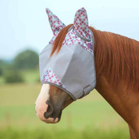 Cashel Crusader Fly Mask, Std with Ears, Plum Flash, 4 Sizes