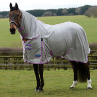 "Weatherbeeta ComFiTec Essential Combo Pony Fly Sheet, Silver/Purple/Blue, 54"" & 63"" Only"
