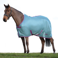 "Saxon Mesh Fly Sheet, Standard Neck,  Blue/Purple/Rose, 48"" - 69"""