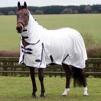 "Weatherbeeta ComFiTec Essential Combo Pony Fly Sheet, White/Purple, 48"" - 69"""
