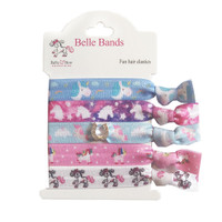 Belle & Bow Equestrian, Set of 5 Fun  Hair Elastics