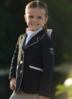 Belle & Bow Sweetheart Show Coat, Black, Sizes 2 - 5 Years