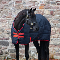 "Horseware Mio Pony Medium 150g Stable Blanket , Navy/Red, 48"" - 69"""