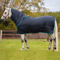 "Amigo Insulator Plus 200g Stable Blanket, Navy/Electric Blue, 45"" - 69"""
