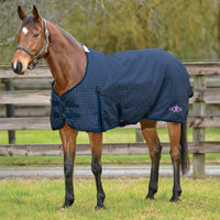 Saxon 600D Medium Turnout, Dark Blue/Orchid Check, 48'' - 69''