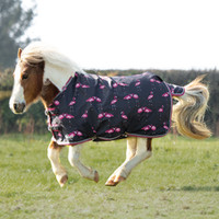 "Shires Miniature Highlander Rain Sheet, Flamingo Print, 33"" - 45"""