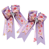 Belle & Bow Show Bows, Pink & Lavender with Doughnuts