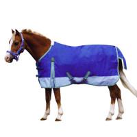 "Weatherbeeta Pony Turnout Sheet, Dark Blue/Light Blue Two-Tone, Size 54"" Only"
