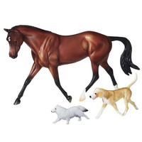 Breyer Protocol Gift Set, Show Hunter & Dogs, Danny & Ron's Rescue
