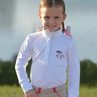 Belle & Bow Show Shirt, White, Sizes 12 & 18 Months and  2 - 5 Years