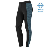 Kerrits Kids Powerstretch Winter Pocket Tight II, with Jade Embossed Horses