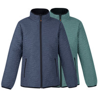Kerrits Kids Unbridled Horse Quilted Jacket, Blue Shadow & Ocean Mist