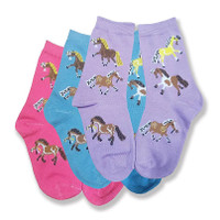 Puff Pony Kids Socks, Pack of 3 Pair