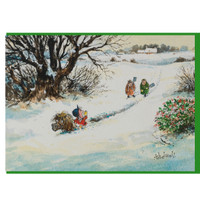 Thelwell Christmas Card, 'In Deep Trouble', Single Card