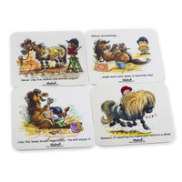 Thelwell Pony Coasters, Set of 4 Different Designs