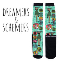 Dreamers & Schemers Ugly Christmas Sweater Boot Socks