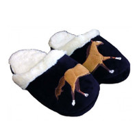 Galloping Horse Fleece-Lined Slippers, Childs Size 3-4