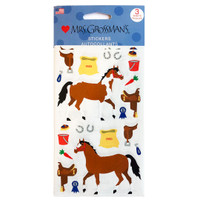 Horse and Tack Stickers, Set of Three Sheets
