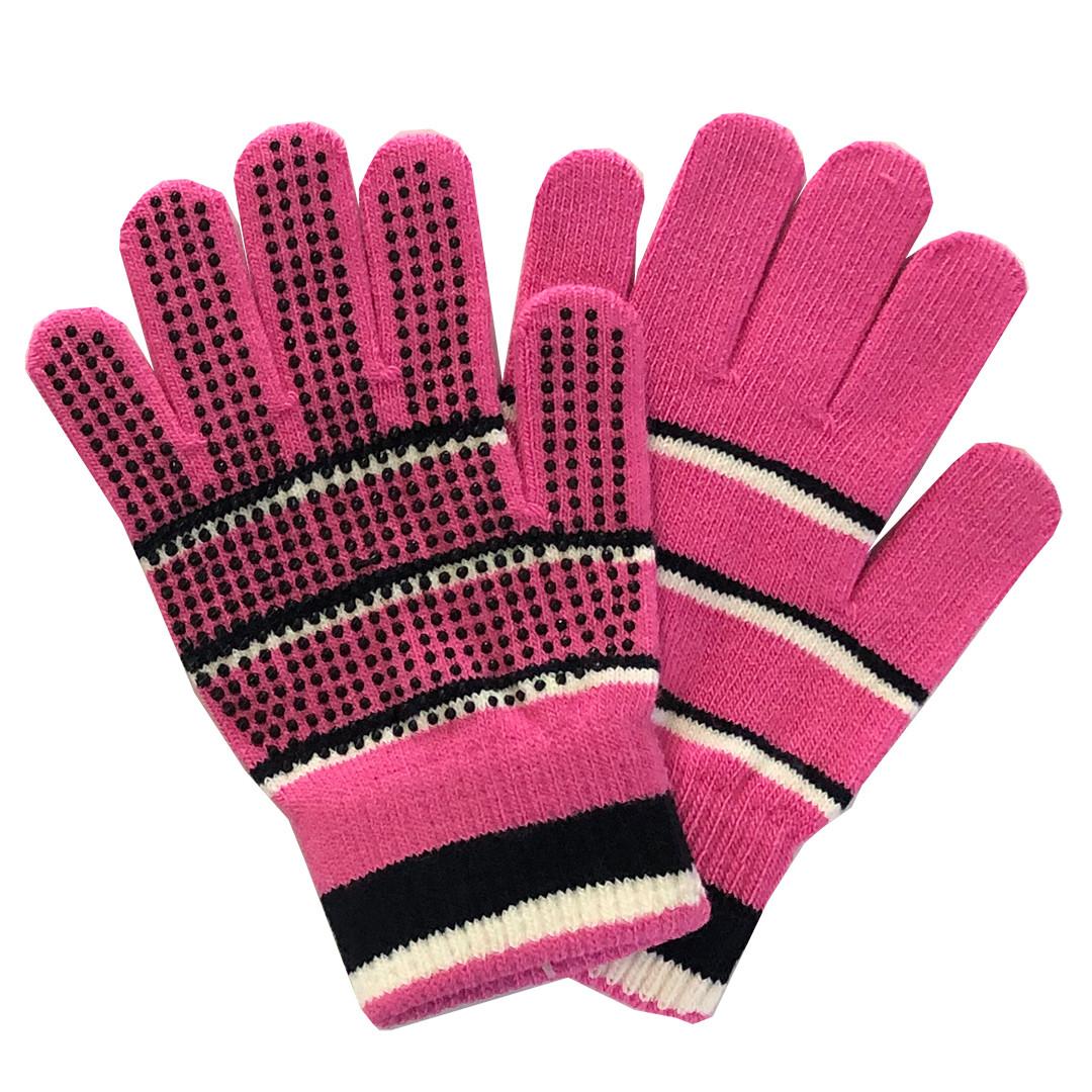 Aged 7-11 4pairs Children Magic Gripper Gloves Anti-skid Magic Glove/with Rubber Dots Stretch/Winter Gloves